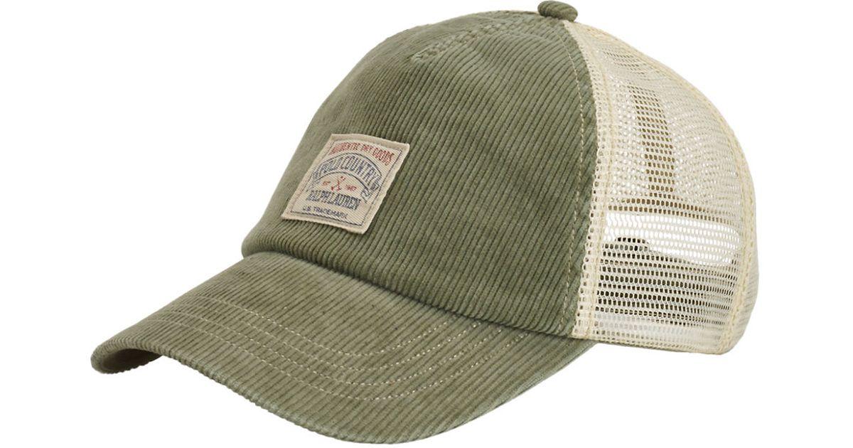 c8f1467ffe6b0 Lyst - Polo Ralph Lauren Corduroy Trucker Hat in Green for Men