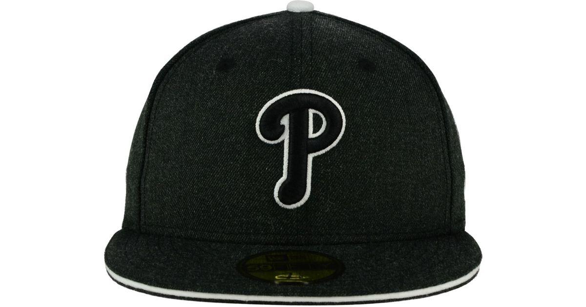 956a905cc72 Lyst - KTZ Philadelphia Phillies Heather Action 59fifty Cap in Black for Men