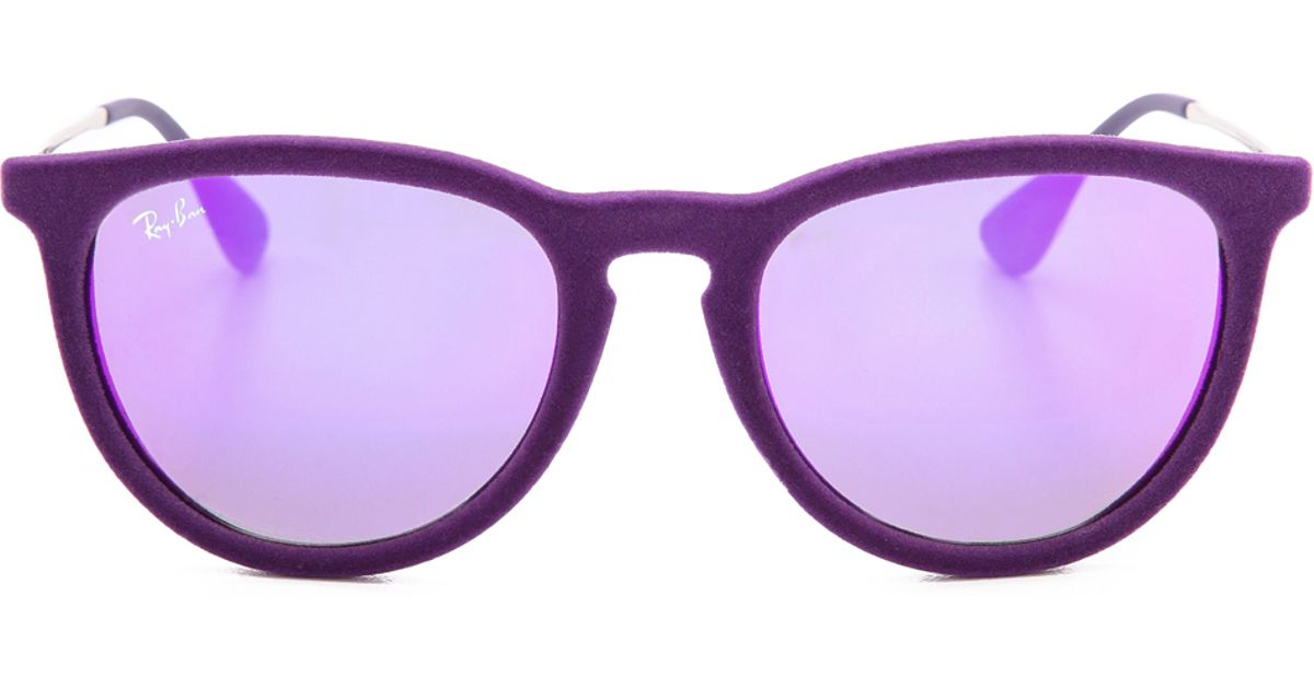 b7ab46b06f4 ... coupon ray ban erika velvet sunglasses violet in purple lyst 09d0b efa80