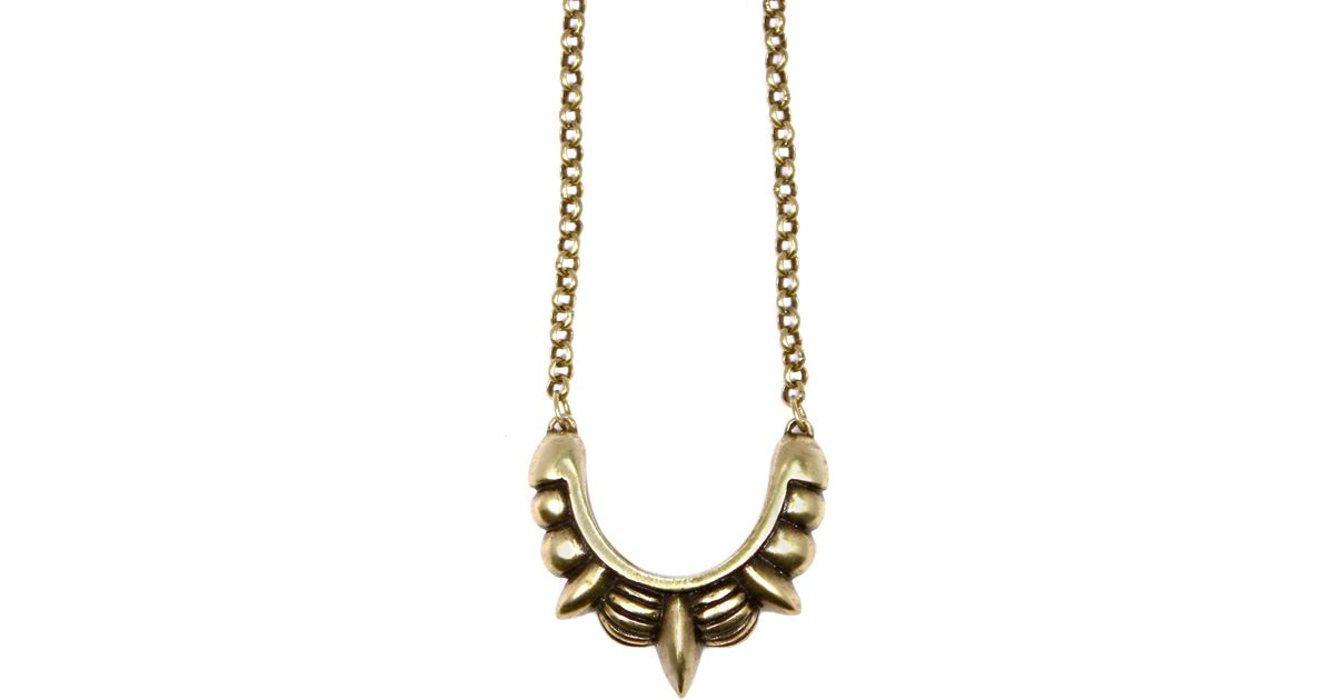Pamela love small spike necklace in metallic lyst for Pamela love jewelry designer