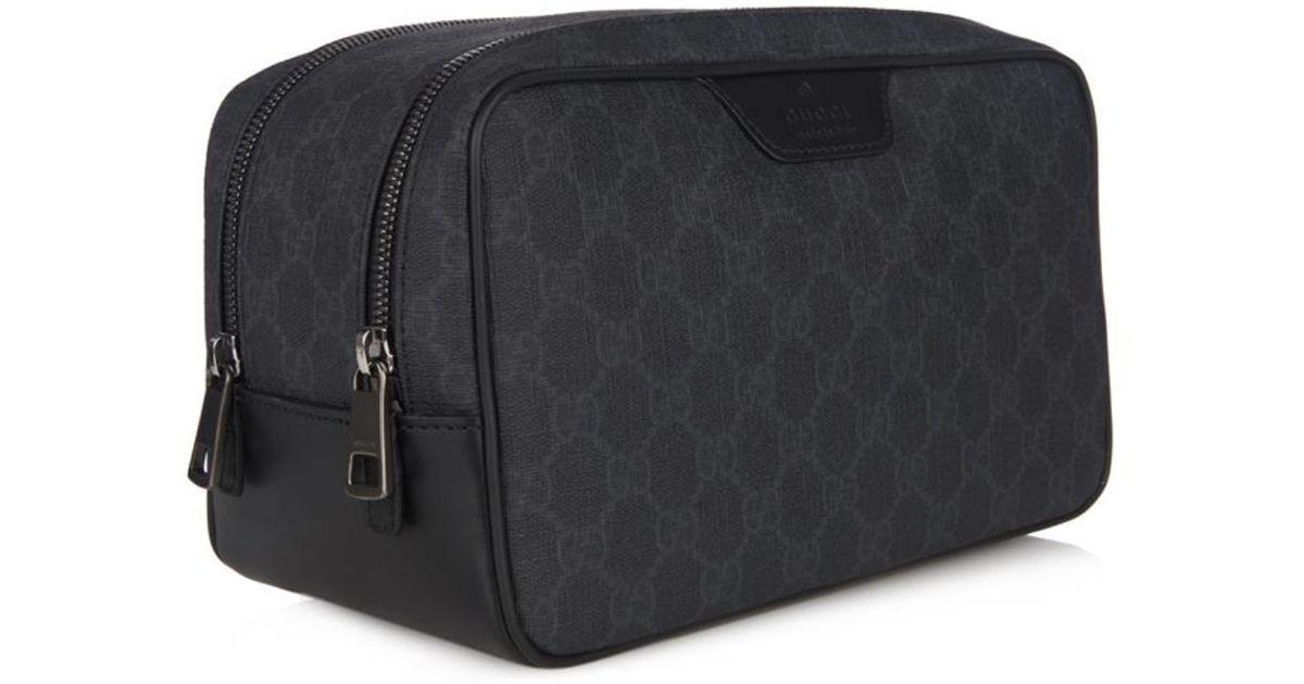 a00d67479f Gucci Monogram Gg Wash Bag in Black for Men - Lyst