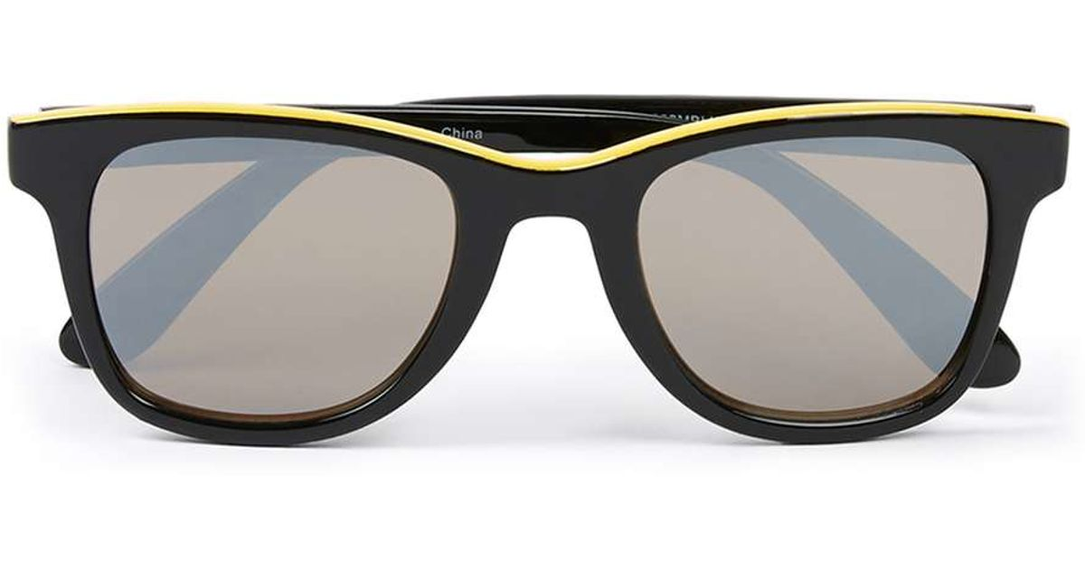 fc733aef1b8 Lyst - Topman Black And Yellow 50  039 s Classic Sunglasses in Yellow for  Men