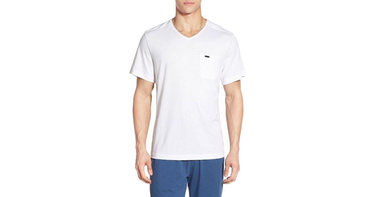 Daniel buchler peruvian pima cotton v neck t shirt in for Peruvian cotton t shirts