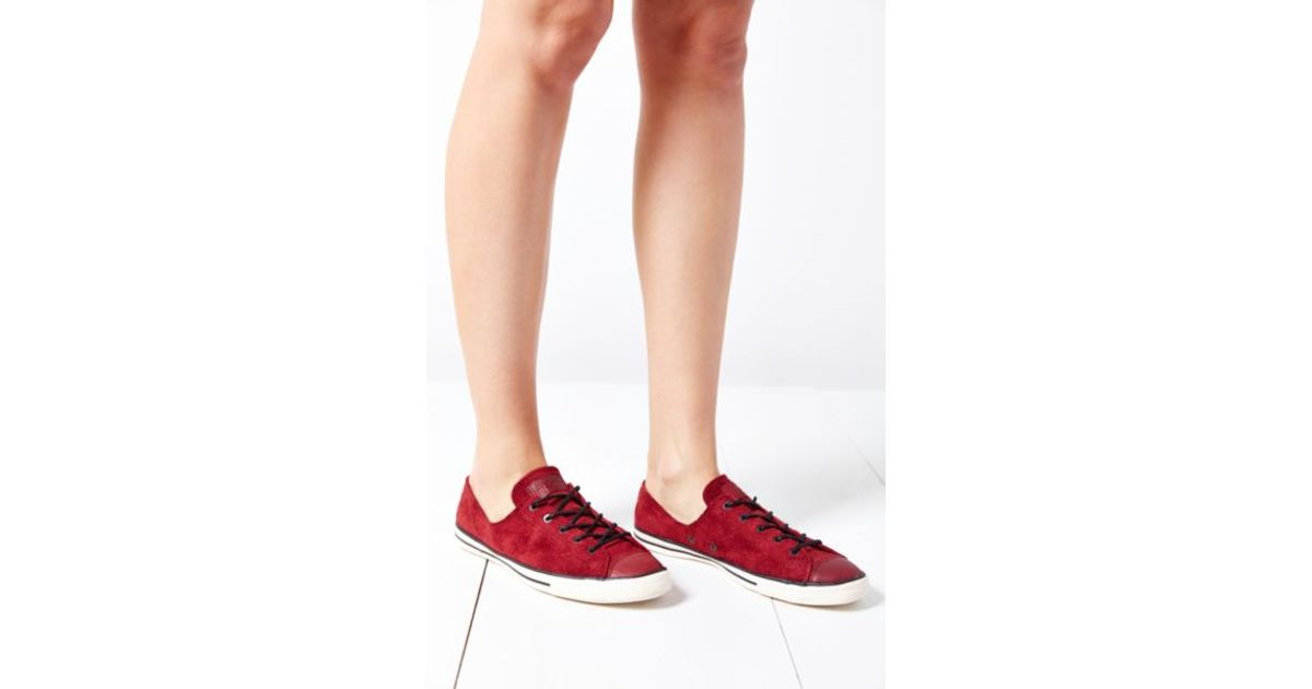 a30d4fcaf47a Lyst - Converse Chuck Taylor All Star Fancy Suede Low-top Womens Sneaker in  Red