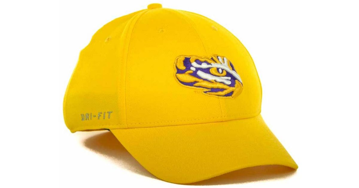 the latest 23b30 065d0 Lyst - Nike Lsu Tigers Drifit Swoosh Flex Cap in Metallic for Men