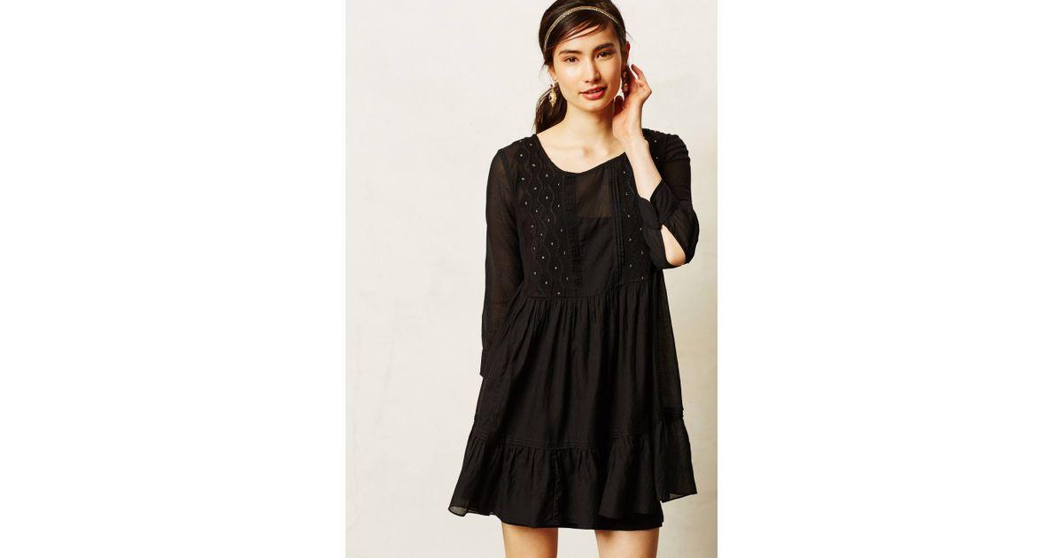 d07f908e55aa9 Maeve Bermeja Tunic Dress in Black - Lyst