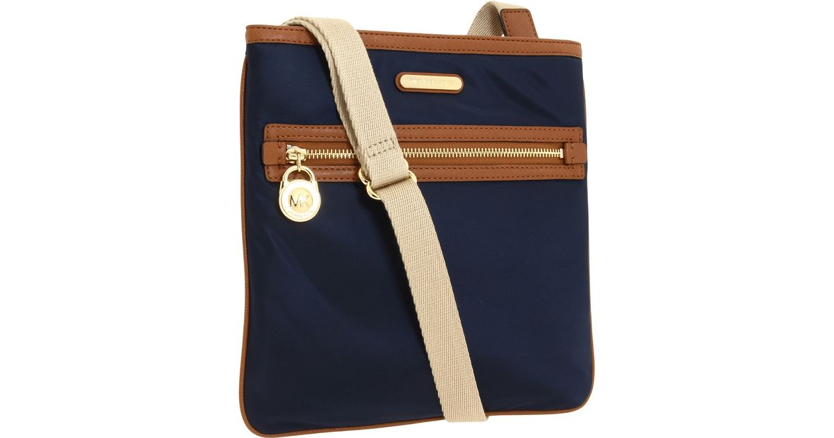 ffae1d3f2208 Lyst - MICHAEL Michael Kors Kempton Large Nylon Crossbody in Blue
