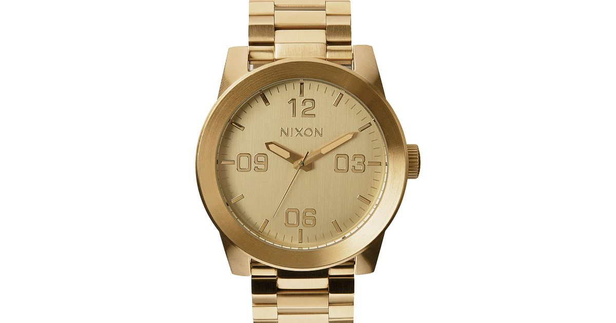 nixon corporal ss all gold in metallic for