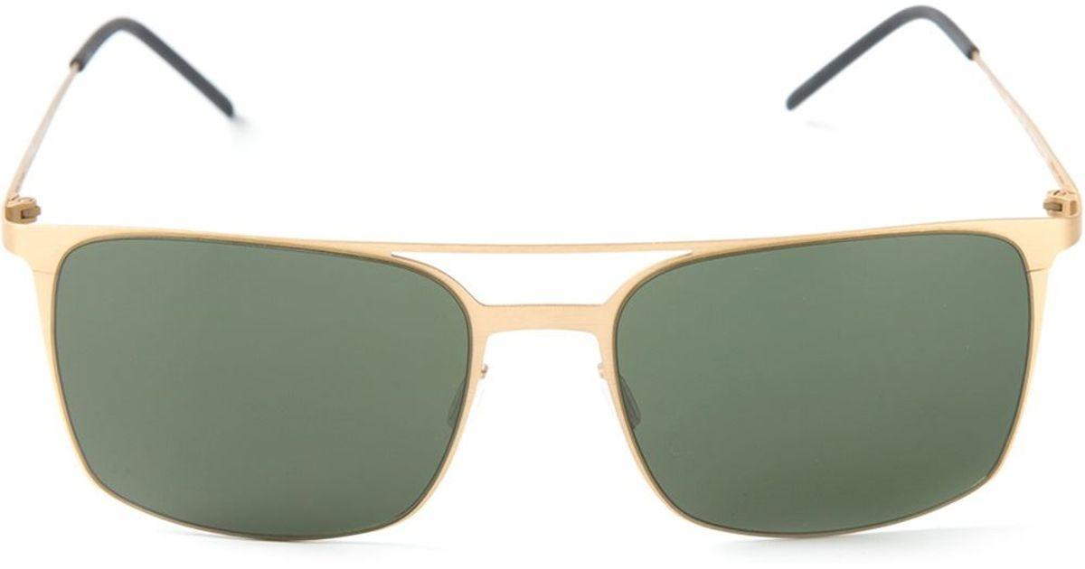 0b4c0a1ac25 Lyst - Italia Independent Square Frame Sunglasses in Metallic for Men