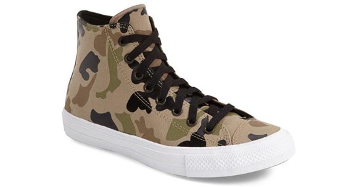1473c311375 Lyst - Converse Chuck Taylor All Star Ii Camo Print High Top Sneaker in  Natural for Men