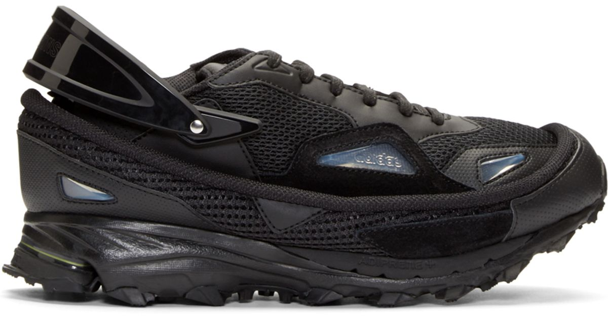 9a02e6fe8e0c Lyst - Raf Simons Black Adidas By Response Trail Sneakers in Black for Men