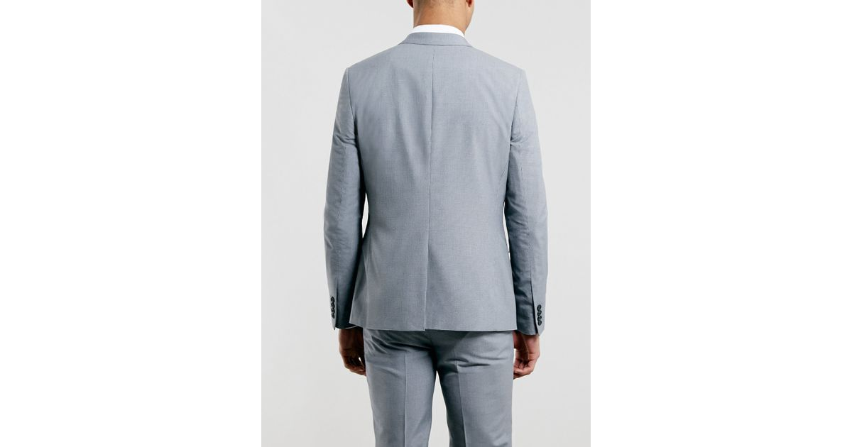 104e5bd6f Lyst - Topman Grey Puppytooth Skinny Suit Fit Jacket in Gray for Men