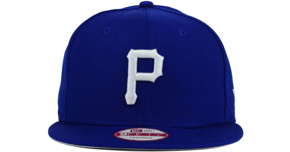 finest selection dc5e6 b3a06 KTZ Pittsburgh Pirates C-dub 9fifty Snapback Cap in Blue for Men - Lyst