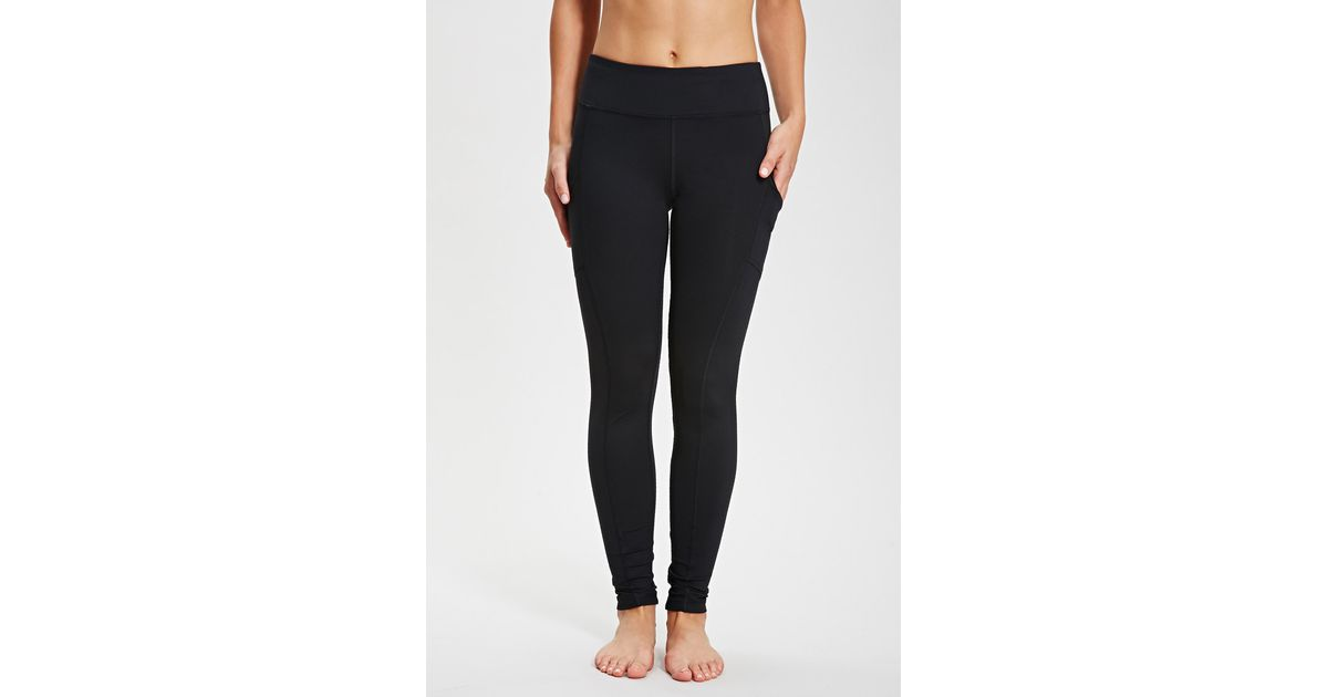 3253134bb9670 Forever 21 Active Side Pocket Yoga Leggings You've Been Added To The  Waitlist in Black - Lyst