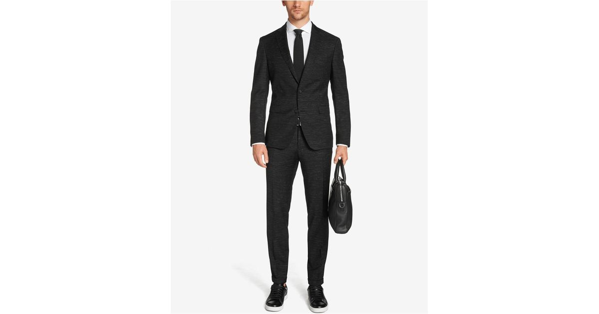 boss boss extra slim fit virgin wool suit in black for men save 40 lyst. Black Bedroom Furniture Sets. Home Design Ideas