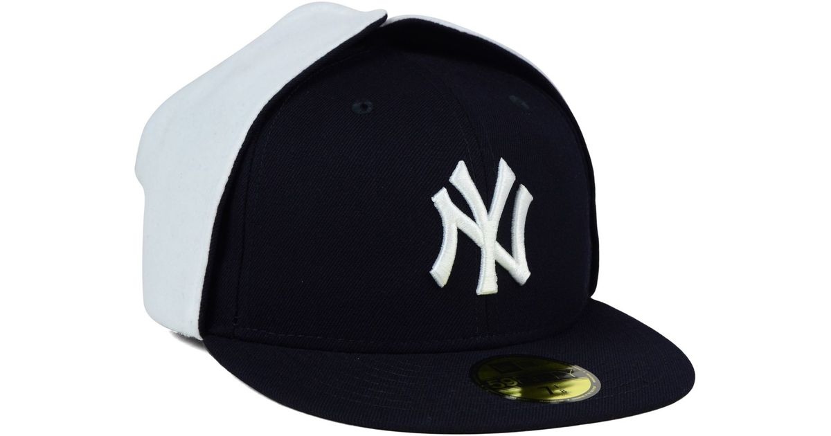 d2b60fe09008e Lyst - KTZ New York Yankees Dog Ear 59fifty Cap in Blue for Men