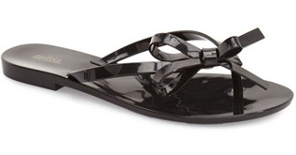 543f6c499c06e8 Burberry Jelly Flat Sandals.Lyst Burberry Jelly Flat Sandals In ...