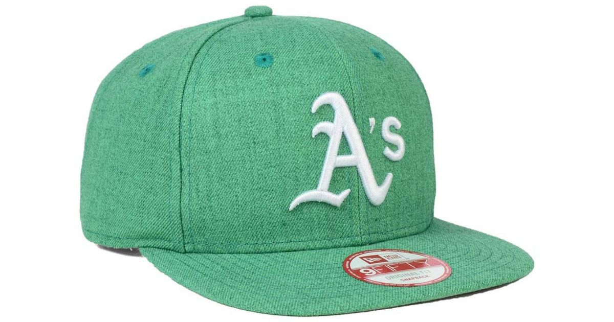 competitive price f4eb5 cd1b3 Lyst - KTZ Oakland Athletics Heather C-dub 9fifty Snapback Cap in White for  Men
