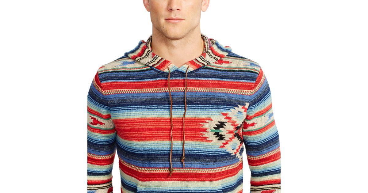 225dceae ... best price polo ralph lauren serape inspired hoodie for men lyst 7b546  0ecbb