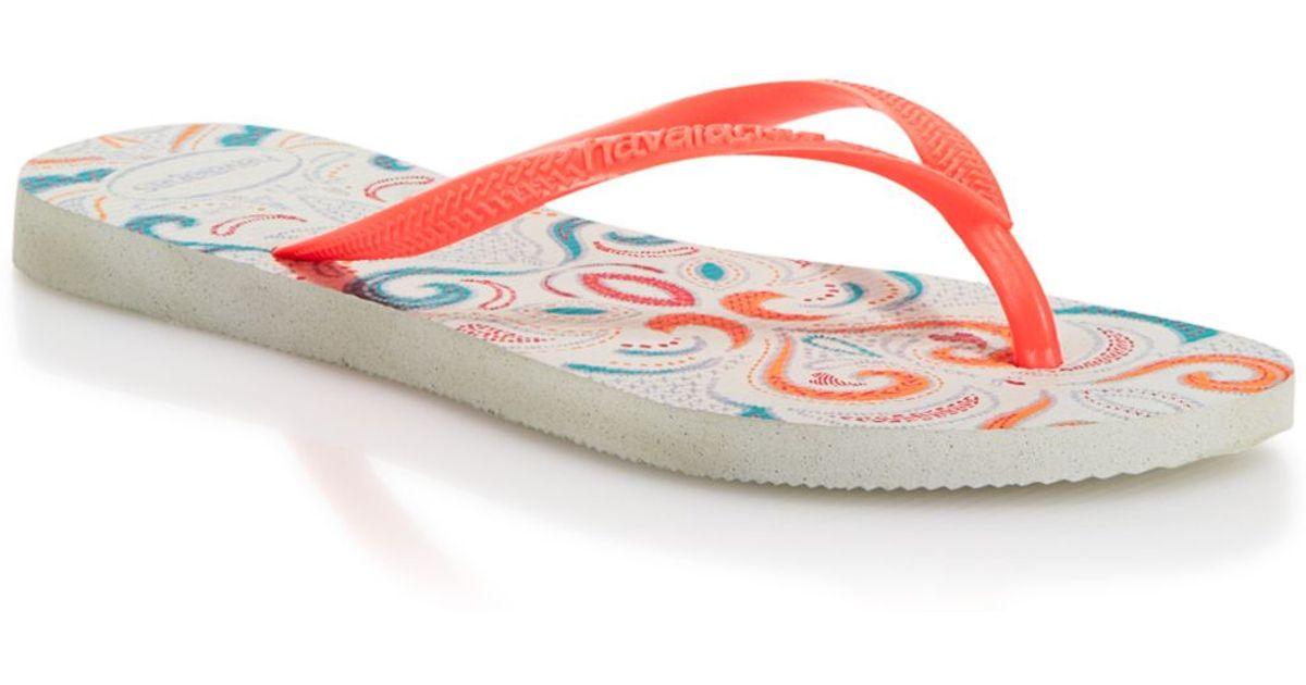 9521c7b93 Lyst - Havaianas Flip Flops - Slim Lace in Red