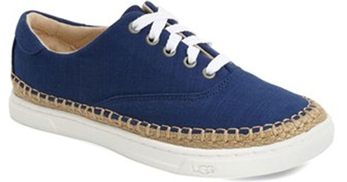 bd1e1f5008c UGG - Blue 'eyan Ii' Canvas Sneaker - Lyst