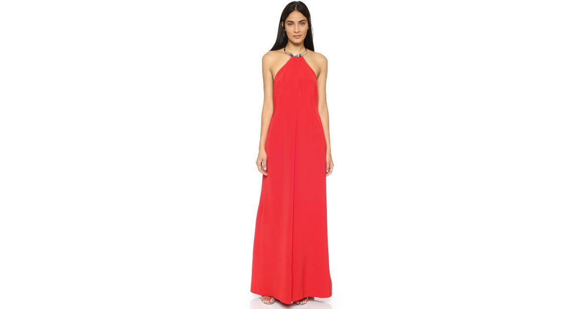 Kaufman franco Sleeveless Jumpsuit in Red   Lyst