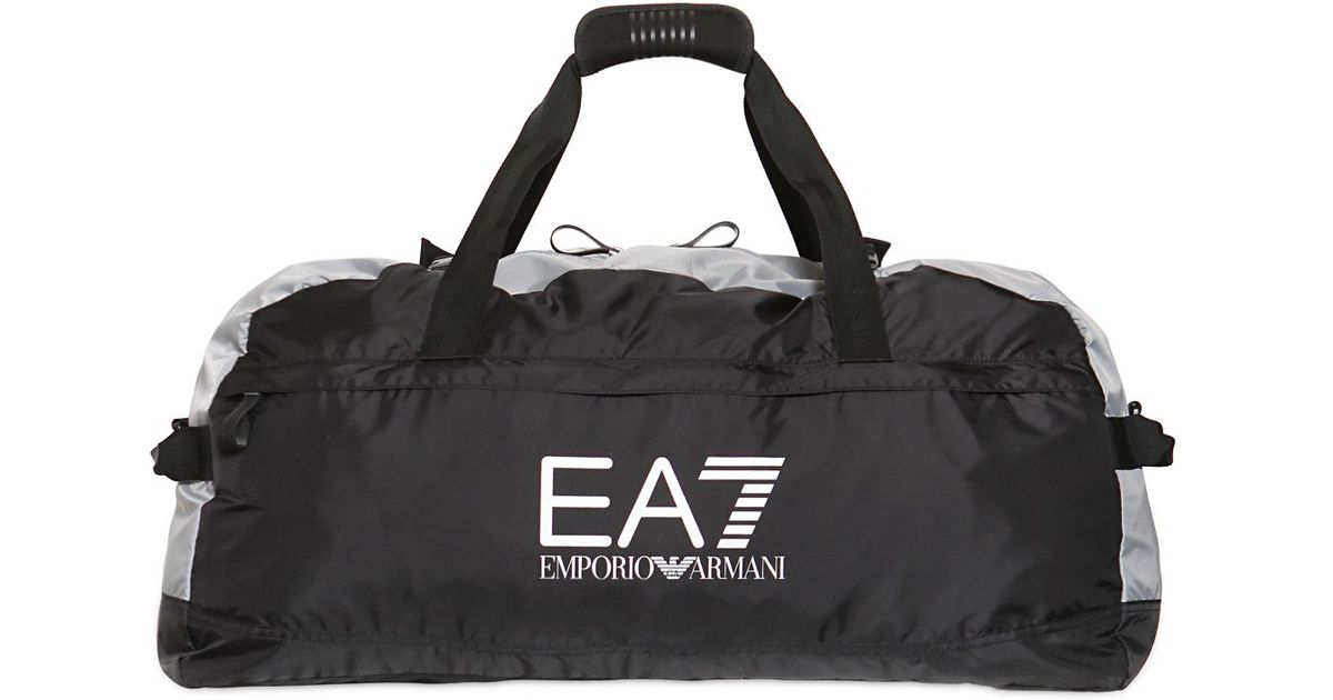 Emporio Armani Two Tone Ripstop Sport Duffle Bag in Black for Men - Lyst 53cadb0f5a