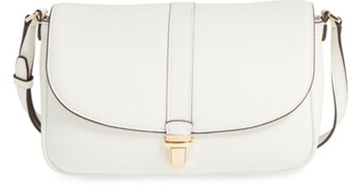 9f8228d3c0d87d MICHAEL Michael Kors 'large Charlton' Leather Crossbody Bag in White - Lyst