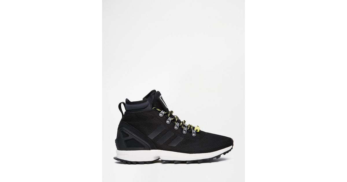 744cb855f Lyst - adidas Originals Zx Flux Winter Trainers S82933 in Black for Men
