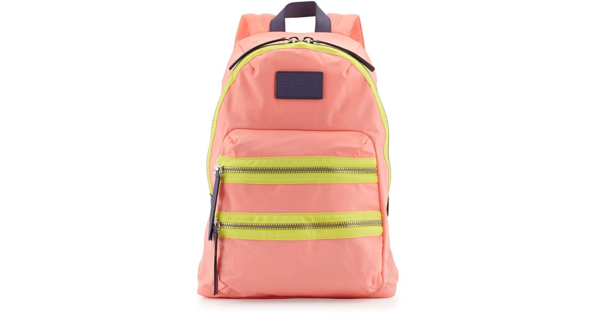 Marc By Marc Jacobs Domo Arigato Packrat Backpack Fluoro Coral in Pink -  Lyst 6165dd34f2bf1