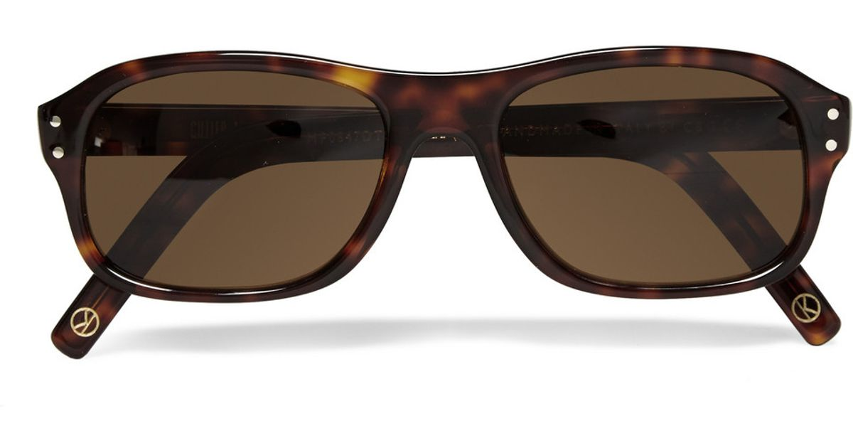 63395a7f02 Lyst - Kingsman Cutler And Gross Tortoiseshell Acetate Square-frame  Sunglasses in Brown for Men
