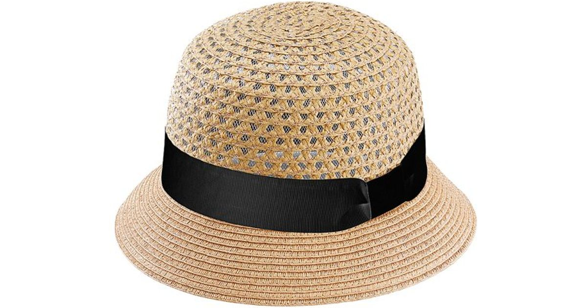 Lyst - San Diego Hat Company Womens Open Weave Bucket in Natural 47bca72e522d