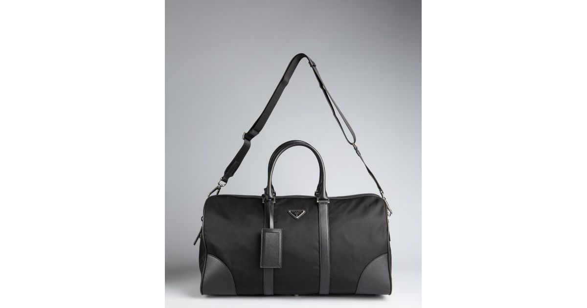 exact replica handbags - Prada Nylon Zip Duffle Bag in Black for Men | Lyst