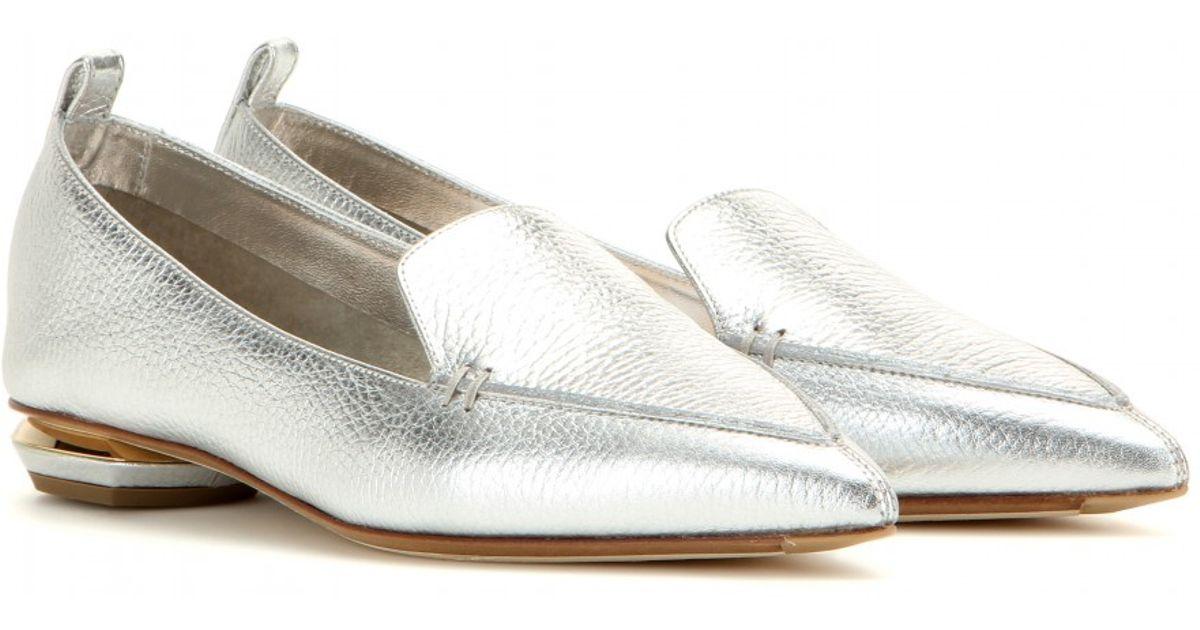 Nicholas Kirkwood Botalatto Beya metallic leather loafers TOjJfSL