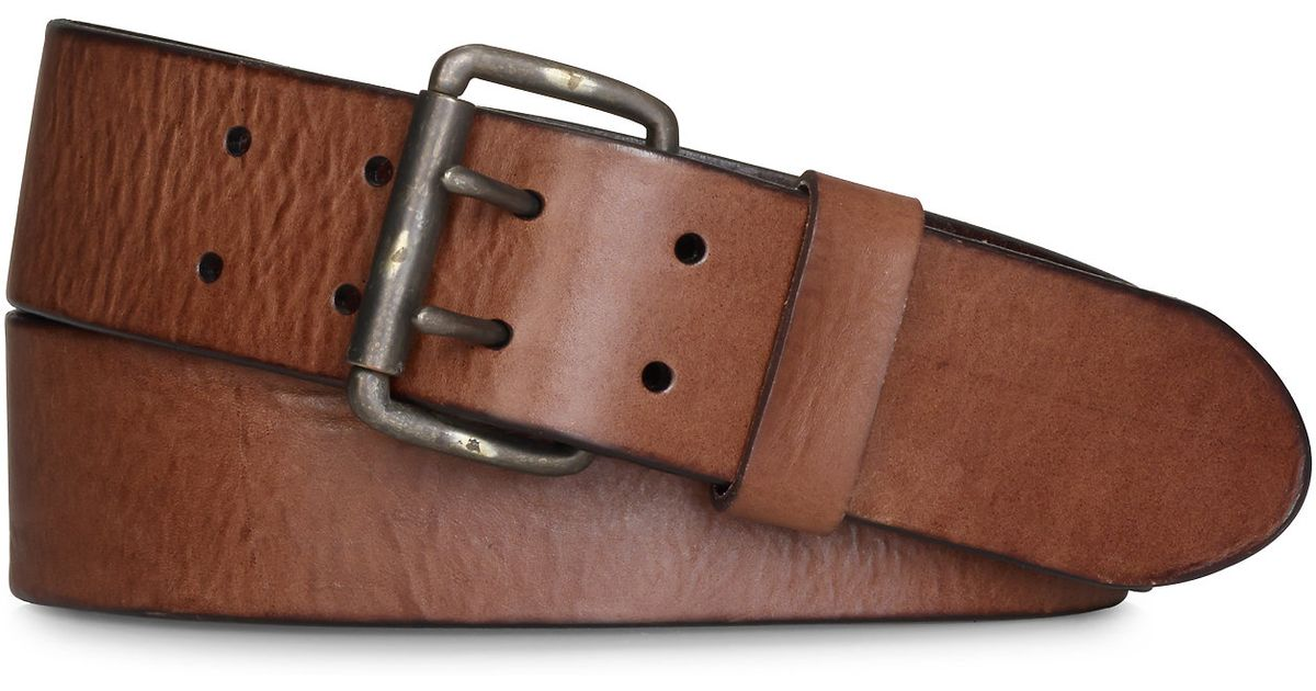 denim supply ralph distressed leather belt in