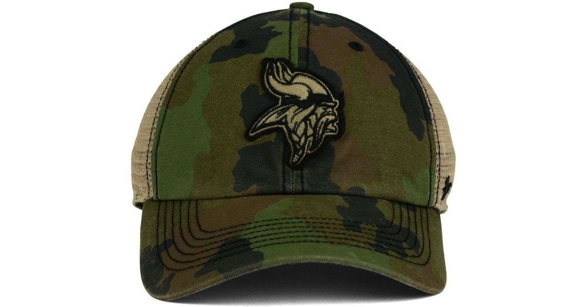 new product d7d19 dea44 ... usa lyst 47 brand minnesota vikings barge relaxed closer cap in green  for men 95841 b4b3c