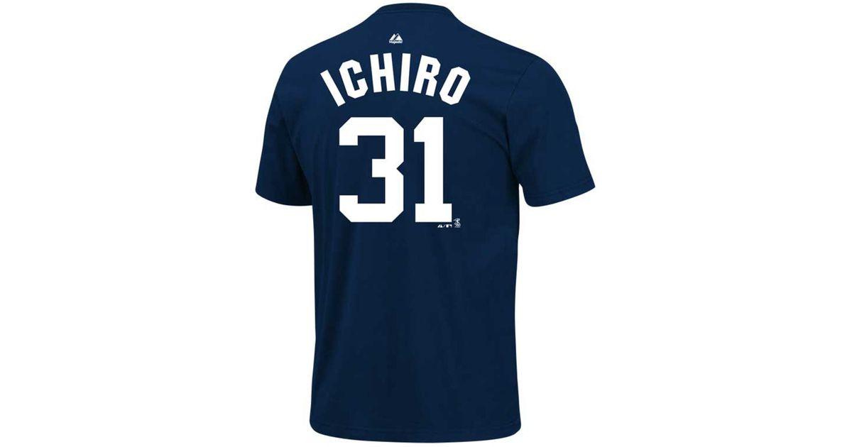 900351b174d Lyst - Majestic Kids  Short-sleeve Ichiro Suzuki New York Yankees T-shirt  in Blue for Men