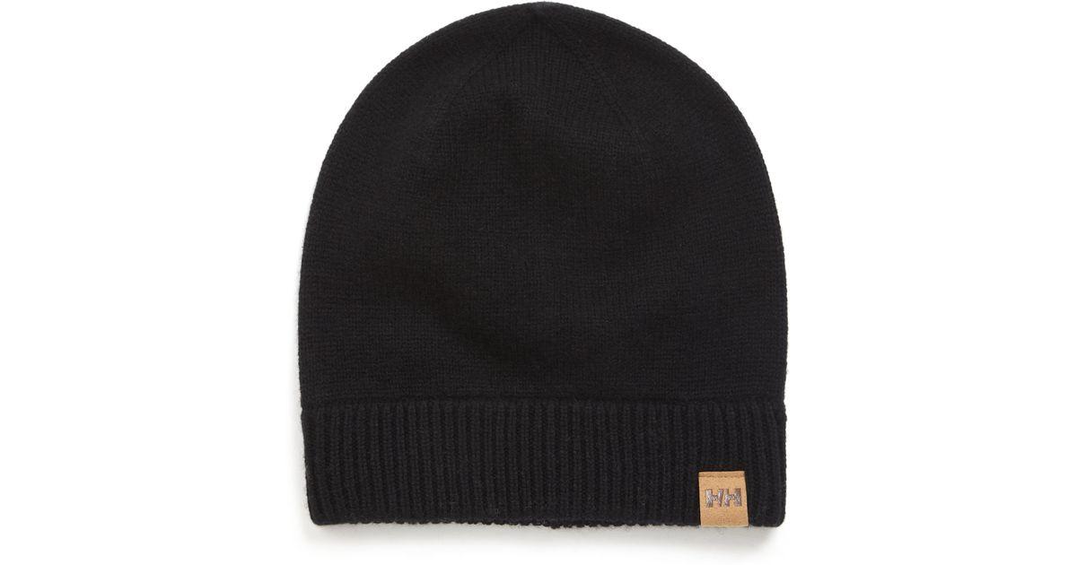 5373b551e9d Lyst - Helly Hansen Swarovski Crystal Knit Beanie in Black