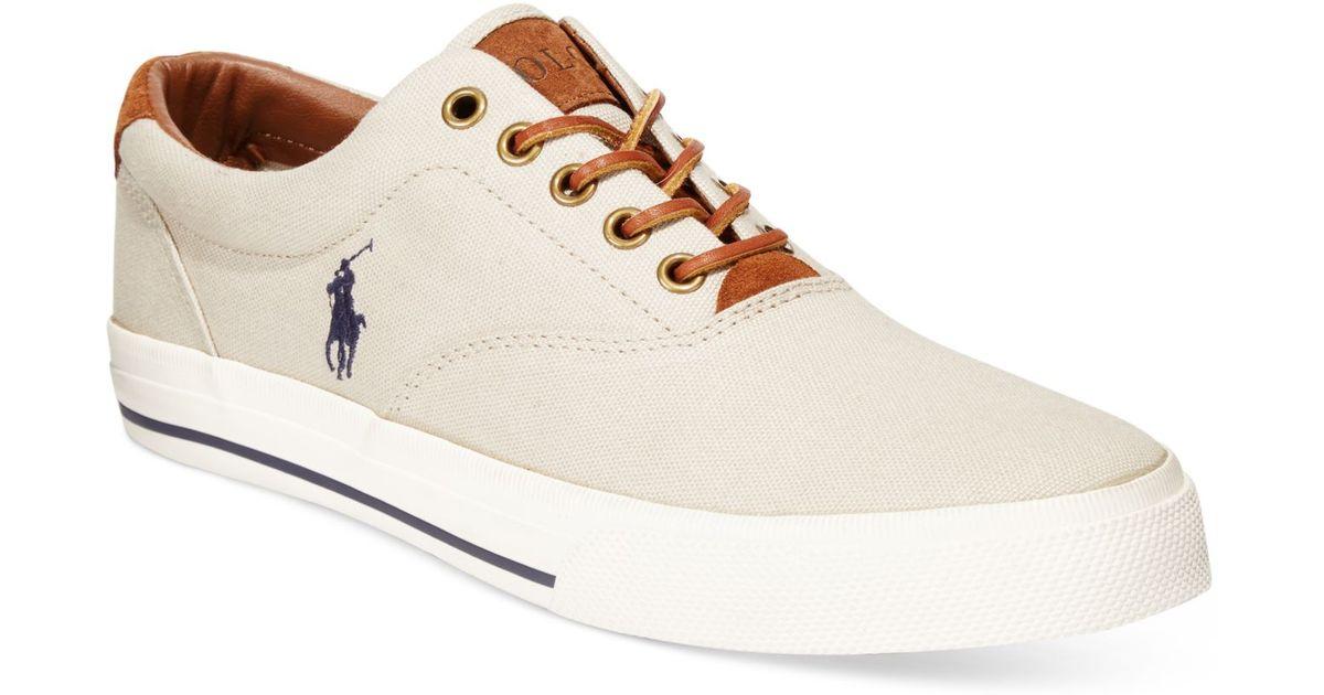 80b211fa4ba0 Lyst - Polo Ralph Lauren Men s Vaughn Lace Sneakers in Blue for Men