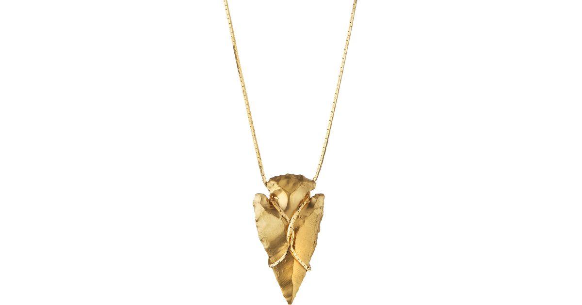 Lyst serefina arrowhead pendant necklace in metallic aloadofball Images