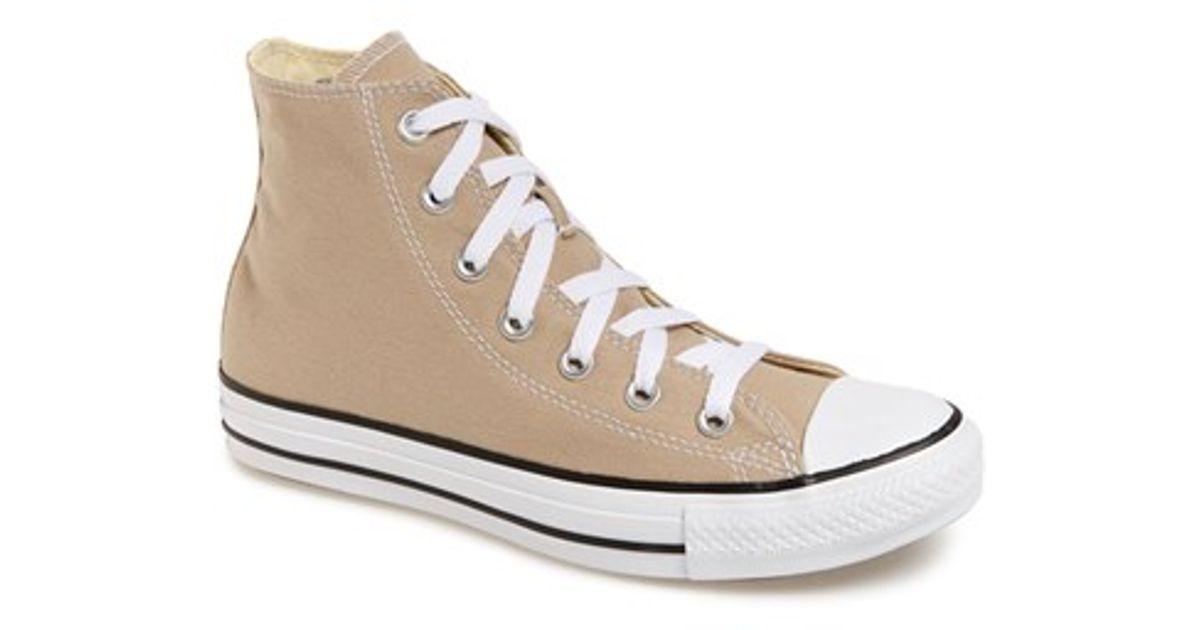 989ec7a1fcab Lyst - Converse Chuck Taylor All Star  Seasonal  High Top Sneaker in Natural