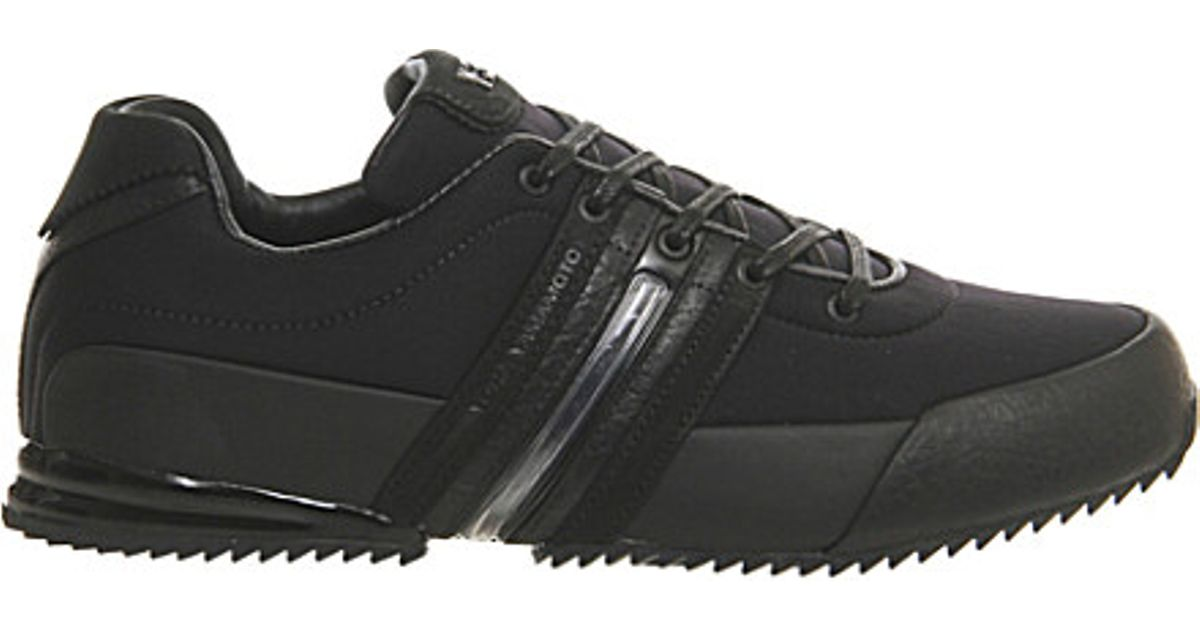 d3cc685be21c Y-3 Y3 Sprint Leather Trainers in Black for Men - Lyst