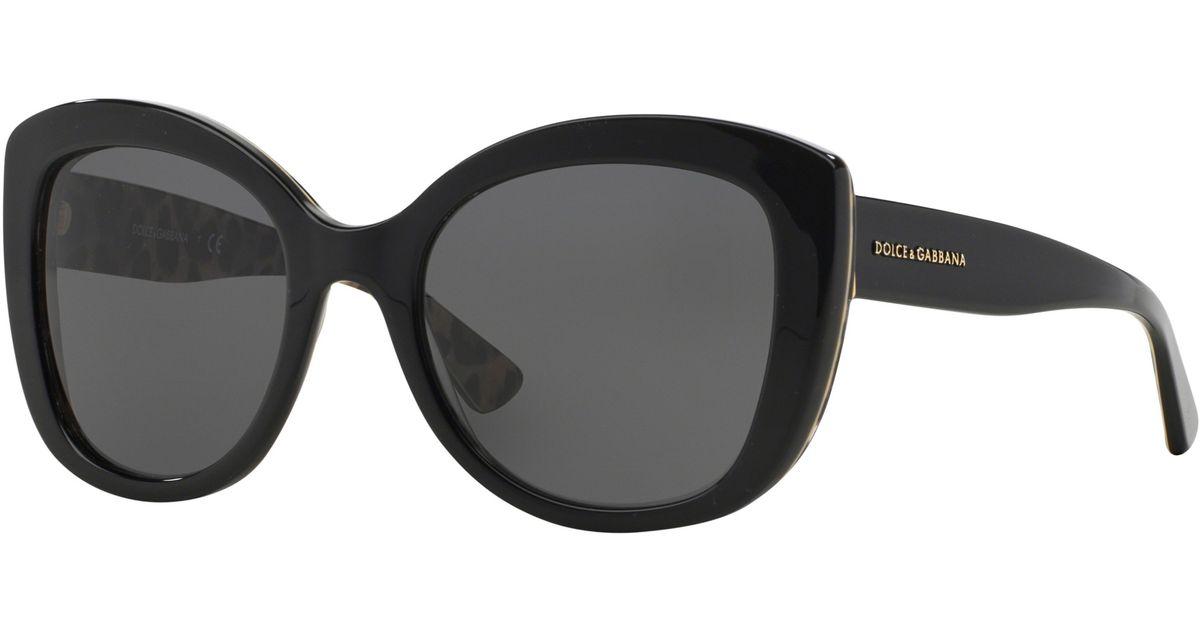 f33905f1d Dolce & Gabbana Dg4233 Cat Eye Sunglasses in Black - Lyst
