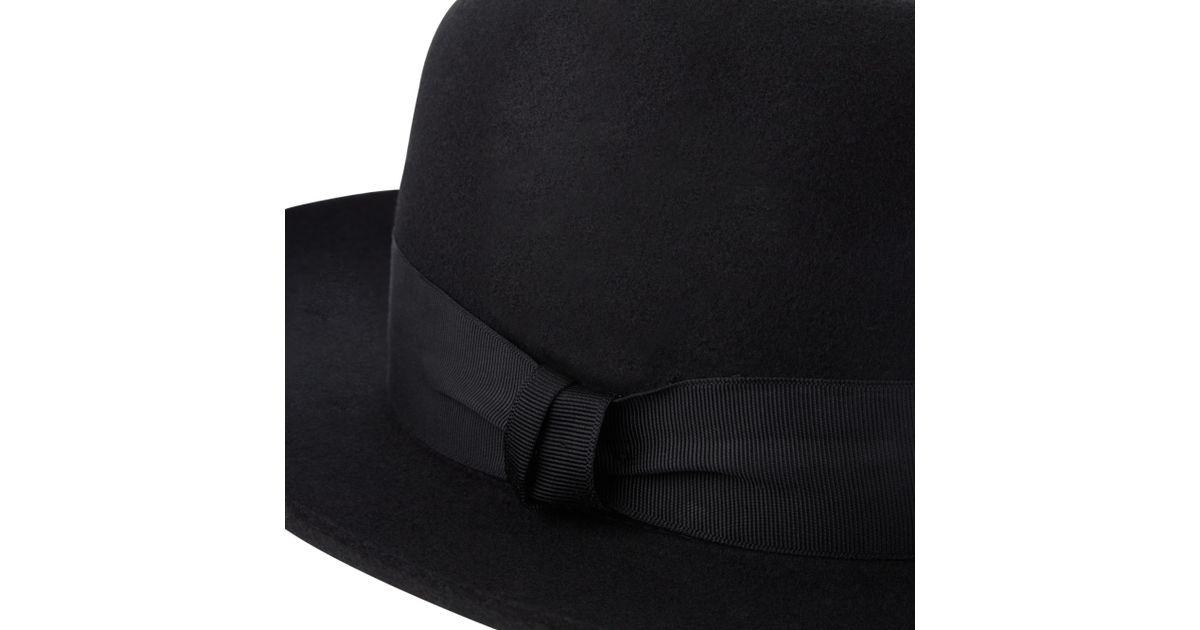 6d8c0962b2b Christys  Grosvenor Wool Felt Wide Brim Fedora Hat in Black for Men - Lyst