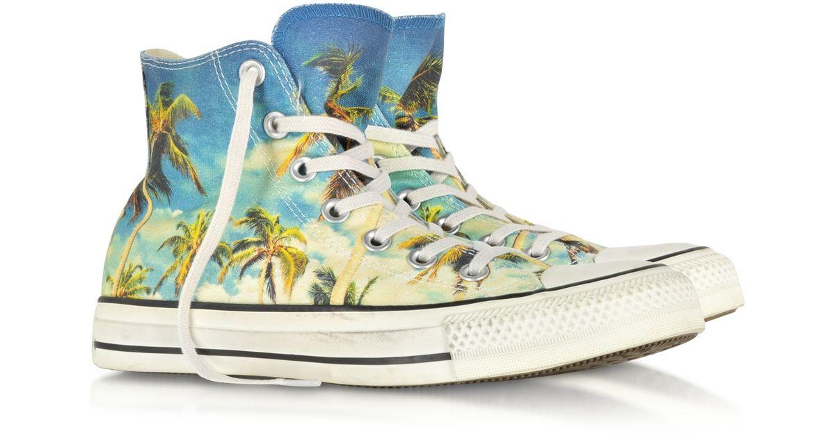 3347a73e5d353d Lyst - Converse Chuck Taylor All Star Hi-Ox Graphic Tropical Print Sneaker  for Men