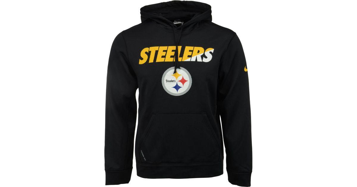 Lyst - Nike Men s Pittsburgh Steelers Ko Staff Graphic Hoodie in Black for  Men bb358f774