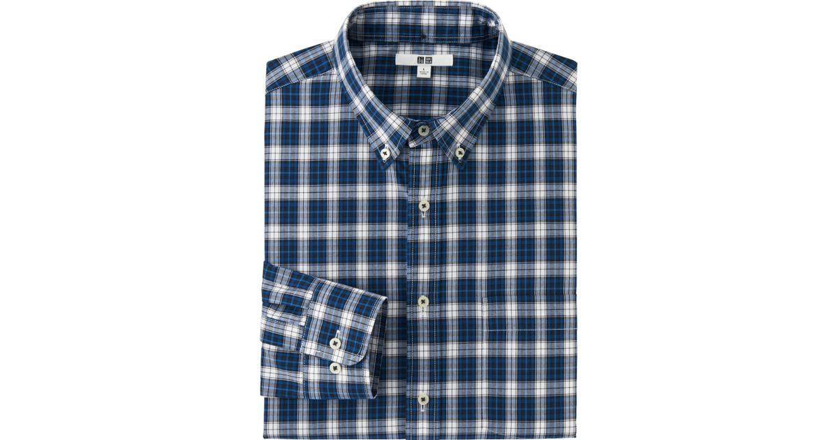 Uniqlo Extra Fine Cotton Broadcloth Check Long Sleeve