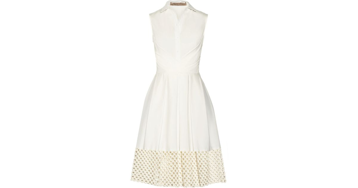 Lela rose white cut-out dresses