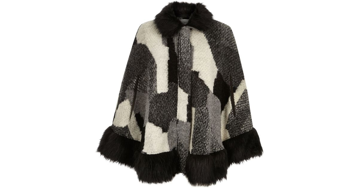 Fur Trim Cape River Island