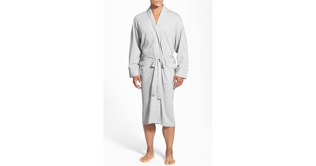 Daniel Buchler Peruvian Pima Cotton Robe In Gray For Men